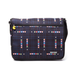 PAC-MAN Original Level Messenger Bag, Black/Blue (MB150200PAC)