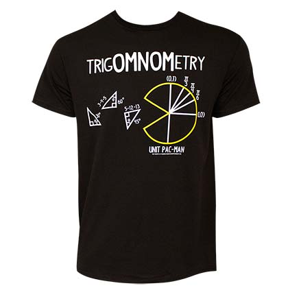PAC-MAN TrigOMNOMetry Men's Black T-Shirt