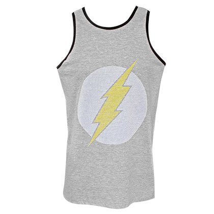 The FLASH Jersey Logo Men's Light Grey Tank Top