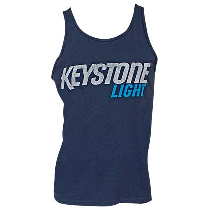 KEYSTONE LIGHT Logo Navy Men's Tank Top Shirt