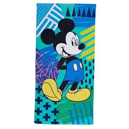 Mickey Mouse Green Blue Beach Towel