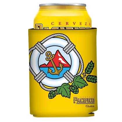 PACIFICO Anchor Logo Yellow 12oz Can Cooler