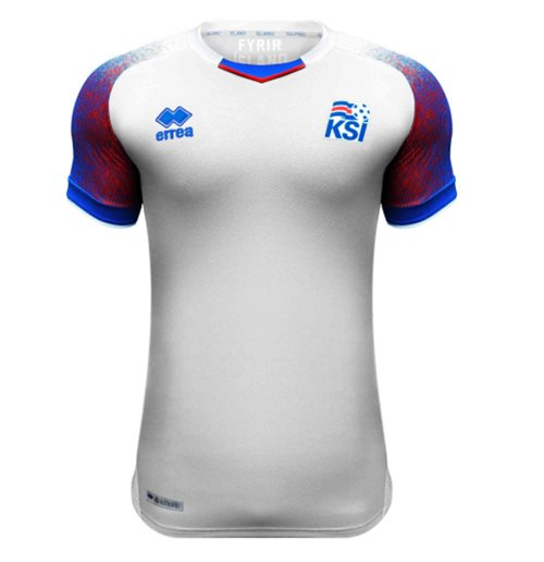 2018-2019 Iceland Away Errea Football Shirt (Kids)