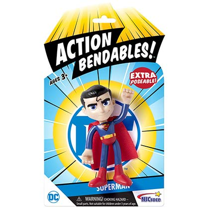 SUPERMAN Action Bendables Action Figure 4in Toy