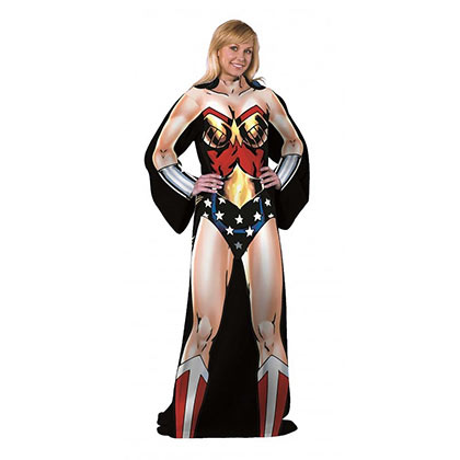 WONDER WOMAN Elite Adult Blanket With Sleeves