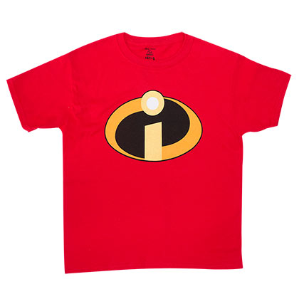 The INCREDIBLES Disney Logo Kids Boys 8-20 Red TShirt