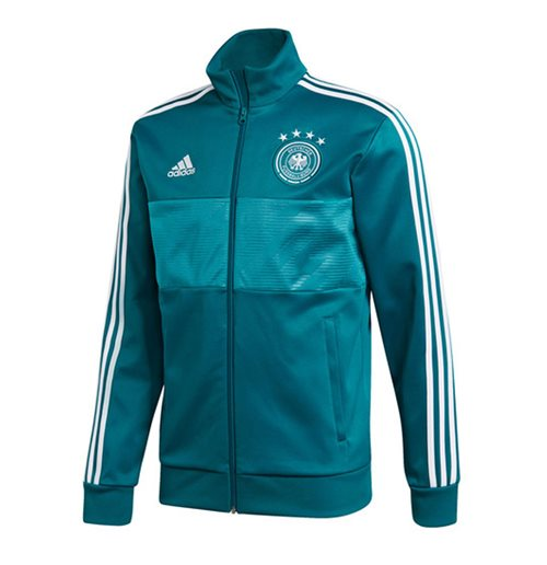 2018-2019 Germany Adidas 3S Track Top (Green)