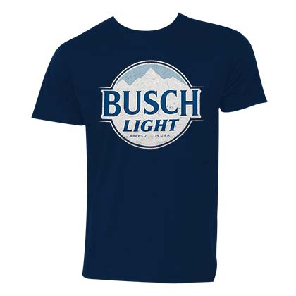 BUSCH Light Logo Men's Dark Blue TShirt