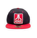 ATARI Embroidered Logo Badge Snapback Baseball Cap, Black/Red