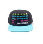 SPACE INVADERS Formation Snapback Baseball Cap, Black/Turquoise