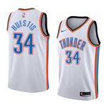 Men's Oklahoma City Thunder Paul George Nike Association Edition Replica Jersey
