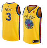 Men's Golden State Warriors David West Nike City Edition Replica Jersey
