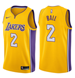 Men's Los Angeles Lakers Lonzo Ball Nike Icon Edition Replica Jersey