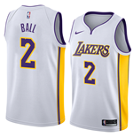 Men's Los Angeles Lakers Lonzo Ball Nike Association Edition Replica Jersey