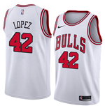 Men's Chicago Bulls Robin Lopez Nike Association Edition Replica Jersey