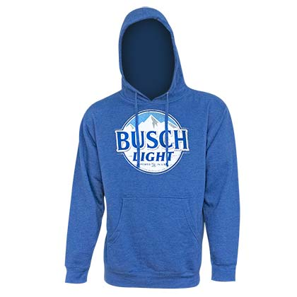 BUSCH Light Men's Royal Blue Hoodie Sweatshirt