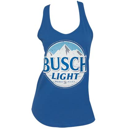 BUSCH Light Logo Women's Racerback Royal Blue Tank Top