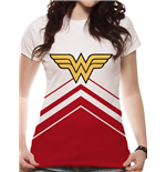 Wonder Woman - Cheers Leader Logo Sublimated - Women Fitted T-shirt White