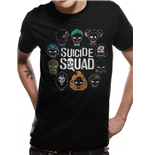 Suicide Squad - Logo And Icons - Unisex T-shirt Black