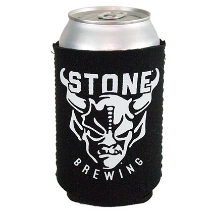 STONE BREWING CO. Logo Black Can Cooler Insulator