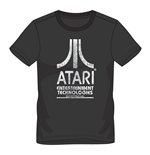 ATARI Male Entertainment Technologies Logo T-Shirt, Medium, Black