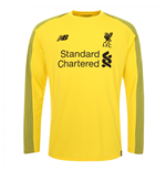 2018-2019 Liverpool Home Long Sleeve Goalkeeper Shirt (Yellow)