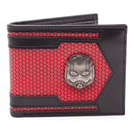 MARVEL COMICS Ant-man & The Wasp Ant-man Helmet Metal Badge Bi-fold Wallet, Black/Red