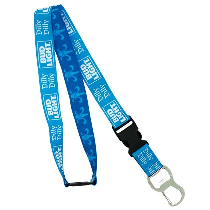 BUD LIGHT Dilly Dilly Lanyard ID Holder Key Chain