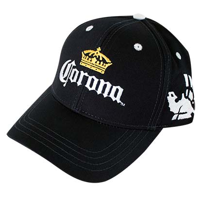 Corona Crown Logo Black Men's Baseball Hat