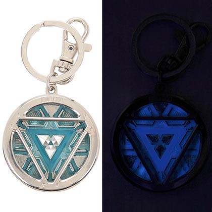 IRON MAN Arc Reactor Glow In The Dark Keychain