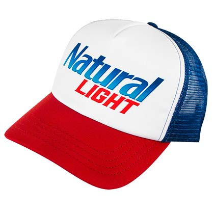 NATURAL LIGHT Men's Mesh Trucker Hat