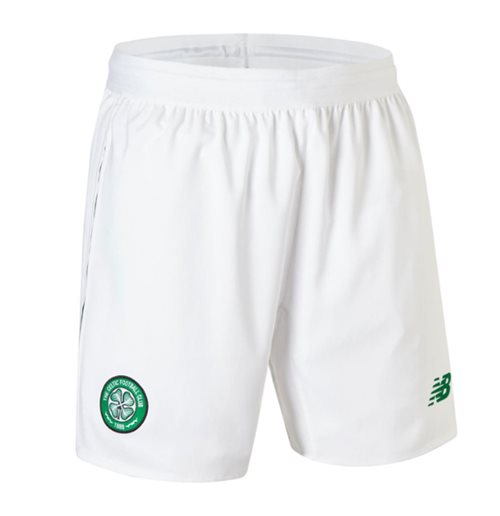 2018-2019 Celtic Home Shorts (White) - Kids