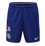 2018-2019 Chelsea Nike Squad Training Shorts (Blue)