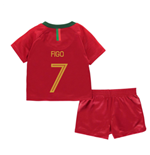 2018-2019 Portugal Home Nike Baby Kit (Figo 7)