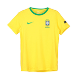 2018-2019 Brazil Nike Core Crest Tee (Yellow) - Kids