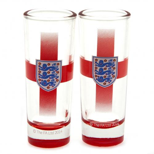 England F.A. 2pk Shot Glass Set