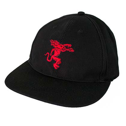 Fireball Whisky Embroidered Dragon Logo Men's Black Hat