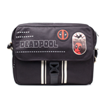 MARVEL COMICS Deadpool Icon Printed Solid Messenger Bag, Black