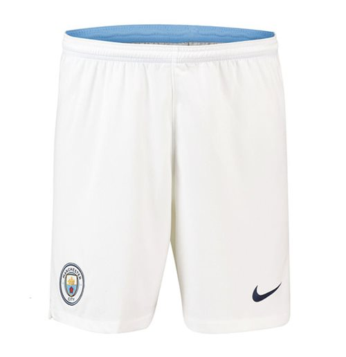 2018-2019 Man City Home Nike Football Shorts (Kids)