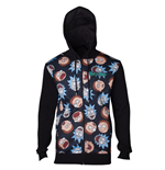 Rick & Morty - Pattern Printed Sublimation Men's Hoodie