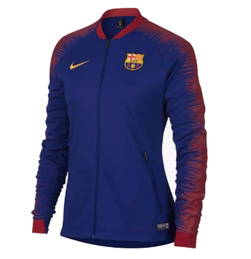 2018-2019 Barcelona Nike Authentic Franchise Jacket (Blue) - Womens