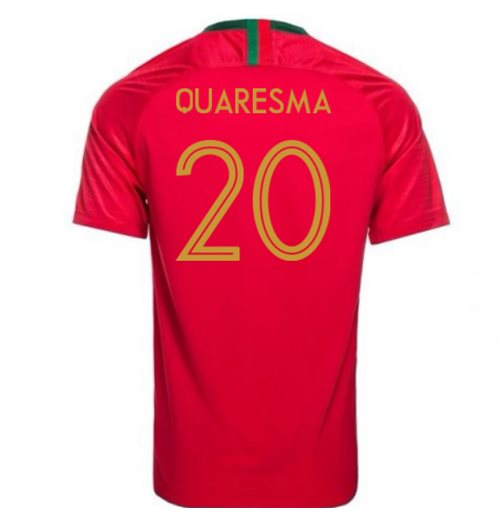 2018-2019 Portugal Home Nike Football Shirt (Quaresma 20) - Kids