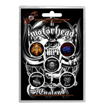 Motorhead Button Badge Pack: England
