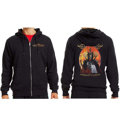 Mastodon Men's Zipped Hoodie: Emperor of Sand (Ex Tour)