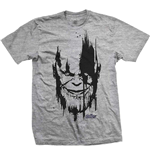 Marvel Comics Men's Tee: Avengers Infinity War Thanos Head Black