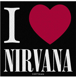 Nirvana Standard Patch: I Love Nirvana (Loose)