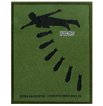 Green Day Standard Patch: Bombs (Loose)
