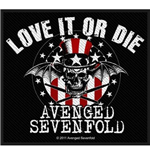 Avenged Sevenfold Standard Patch: Love It Or Die (Loose)