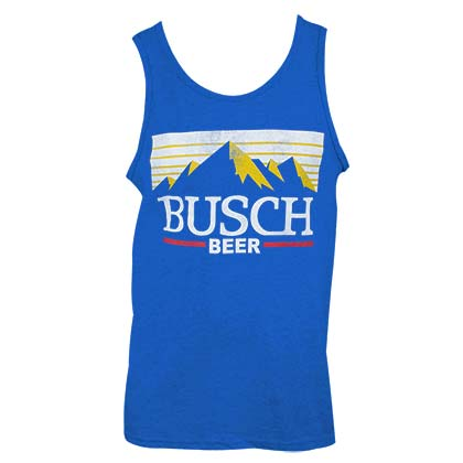 BUSCH Beer Logo Men's Royal Blue Tank Top