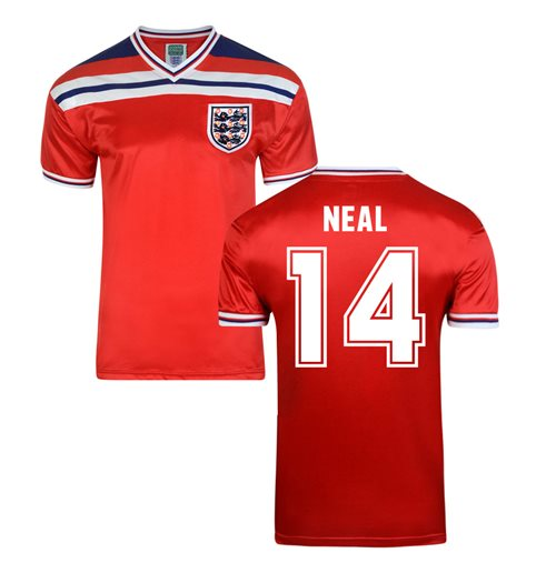 Score Draw England World Cup 1982 Away Shirt (Neal 14)